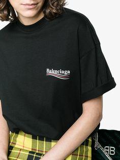 Balenciaga Black Logo T-Shirt Balenciaga Shirt, Web Design, Shirt Blouses, Shirts, Shirt Outfit, Shirt Designs, T Shirt Logo, Daydream, Ulzzang