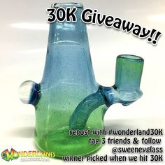 Doing a quick giveaway so repost this and tag 3 friends and follow @sweeneyglass and be sure to use #wonderland30k so we can pick you when we pick the winner. Thanks to all our customers and supporters and followers. Now go follow @sweeneyglass :) #westpalm #royalpalm #wellington #jupiter #palmbeach #supportlocalbusiness #shopsmall #headyart #glass #glassart #americanmadeglass #boro #cali #wonderland  #miami #oregon  #soflo #glassfam  #handmade #washington #style #art #design #craft…