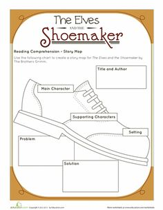 Worksheets: The Elves and the Shoemaker: Story Map