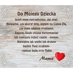 "DO DOMU / BIURA | tabliczka PCV ""dla mojego dziecka"" id:1027 - shop.RekArt.pl Prayer Quotes, True Quotes, Motivational Quotes, Inspirational Quotes, Beautiful Love Pictures, Serious Quotes, Good Sentences, Kids Menu, E Mc2"