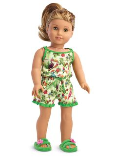 Lea's Rainforest Dreams Pajamas for Dolls