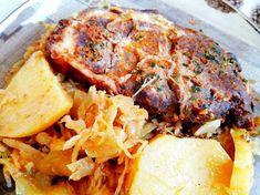 Káposztaágyon sült, pácolt tarja Meatloaf, Ale, Pork, Food And Drink, Recipes, Create, Kale Stir Fry, Ale Beer
