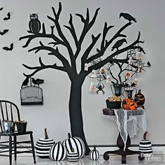 These fun and easy Halloween crafts are the perfect decor for your home in October. The kids can hop in and help with these fun and easy craft ideas. Make wreaths, welcome mats, carved pumpkins and other fun decor to bring the Halloween spirit to your home!