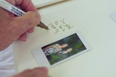 Have people take a polaroid of themselves for the guestbook