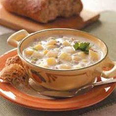 Grandmother's Chowder Recipe -Nothing can compare to homemade soup, especially when this is the delicious result! Winter days seem a little warmer when I prepare this savory chowder. —Dulyse Molnar, Oswego, New York
