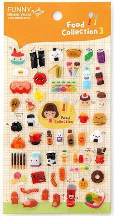 Kawaii Diy Deco Sticker - Food Collection 3