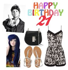 """""""Happy Birthday Ashton"""" by zeniboo ❤ liked on Polyvore featuring Oasis, Aéropostale and Chloé"""