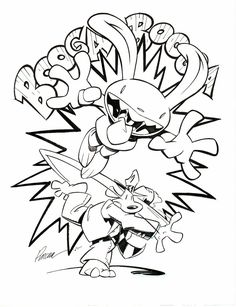 Sam and Max - Cannon Ball Comic Art