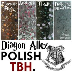 Polish TBH's Diagon Alley nail polish collection deserves its own spot on my fandom board.