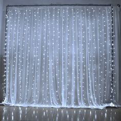 300 led Window Curtain Icicle Lights String Fairy Light Wedding Party Home Garden Decorations  High Quality!! 100% BRAND NEW!  Durable indoor and outdoor decoration. (This light is designed for decoration purposes and are not suitable for commercial lighting, Non waterproof)  8 different ways of glimmering: 1. combination 2. in waves 3. sequentia 4. slo-glo 5. chasing/flash 6. slow fade 7. twinkle/flash 8. steady on  Total 300 LED bulbs. Low power consumption…