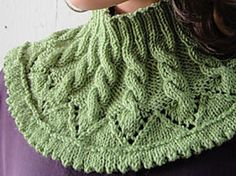 Chevron & Cable Slouchy Hat & Neck Warmer: Cowl pattern by Gail Tanquary With this matching hat and collar, you will look like you just stepped out from the Irish countryside… . Knitting Charts, Baby Knitting Patterns, Knitting Stitches, Crochet Patterns, Knitted Shawls, Knit Cowl, Faux Col, Slouchy Hat, Knitting Accessories