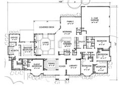 this is probably a gazillion square feet more than we could ever have. but i love the office off the master, but not part of it. i love the guest room with exterior entrance. i would turn the utility and bath and bed #3 into a huge mudroom sort of thing, with a family closet. the family closet is the biggest must in our dreams right now. oh and the space is nice too. ;)