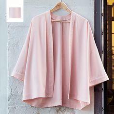 Roze soepelvallende stof voor Jazmin Vest