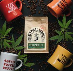 Atypical Farms - CBD Coffee - World Brand Design Society Coffee Packaging, Coffee Branding, Coffee Label, Food Packaging, Coffee Shop, Atypical, Design Food, Design Design, Graphic Design