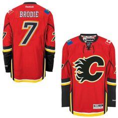 TJ Brodie Calgary Flames Reebok Men's Home Premier Jersey - Red - $135.99