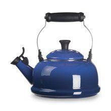 Blue Le Creuset tea kettle - Top item in the kitchen! Love it!