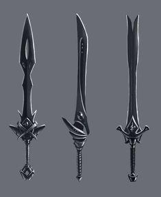 Sword concept by Zoriy on DeviantArt Fantasy Sword, Fantasy Weapons, Sword Drawing, Sword Art, Swords And Daggers, Knives And Swords, Armadura Cosplay, Armas Ninja, Cool Swords