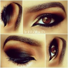 Smokey Black Arabic Makeup