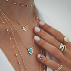 Loving this elegant boho style jewelry. Not sure about the eye nail design though. | Stylish outfit ideas for women who love fashion!