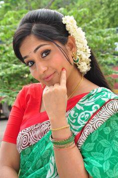 ##Madhavi Latha in wedding saree new tamil movie hot stills