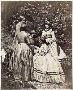 Bonnuit Achille (1833-1906)  La séance de stéréoscopie, vers 1865