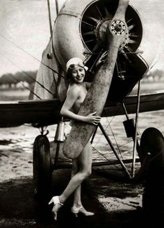 Gotta be one of the 1st plane pinup girls