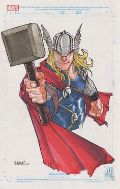 Space Between Panels - Thor (Art by Humberto Ramos) Comic Book Artists, Comic Artist, Comic Books Art, Marvel Comics Art, Marvel Heroes, Ms Marvel, Captain Marvel, Cartoon Girl Drawing, Cartoon Drawings