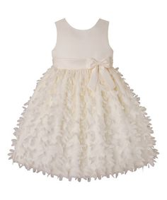 Loving this Candlelight Floral Skirted Bow A-Line Dress - Toddler & Girls on #zulily! #zulilyfinds