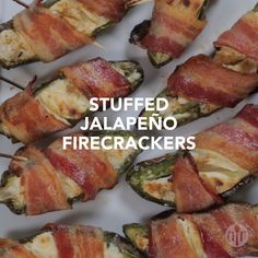 """""""This recipe came about after years of competition with family and friends over the perfect stuffed jalapeno. Bring your tissues because these are HOT! Texas Chili, Appetizer Recipes, Dinner Recipes, Appetizers, Holiday Recipes, Jalapeno Recipes, Meat Recipes, Pizza Rolls, Air Fryer Recipes"""