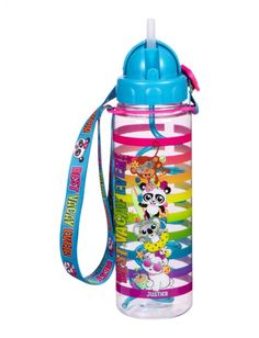 Critter Vacay Spiral Straw Water Bottle With Strap | Girls Water Bottles & Umbrellas Accessories | Shop Justice