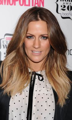 Caroline Flack really suits this inbetween long and short style. She is particularly known for the natural looking waves she shows here.