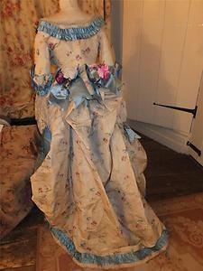 Fine c1870 cornflower blue & floral antique Victorian trained silk bustle dress | eBay Old Dresses, Vintage Dresses, Vintage Outfits, Victorian Dresses, Victorian Women, Victorian Fashion, Vintage Fashion, Antique Clothing, Steampunk Clothing