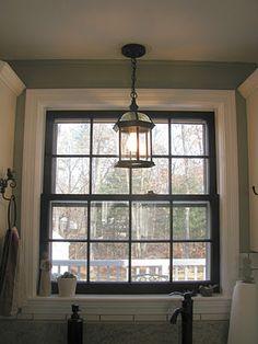 black window trim, white molding! GENIUS
