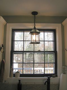 black window trim, white molding! GENIUS