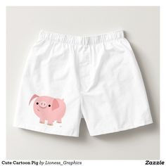 Cute Cartoon Pig Boxers by Cheerful Madness!!