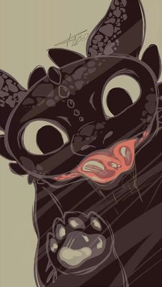 Toothless / How to Train Your Dragon/ Pixar / Disney / Wallpaper / Phone / Samsung / Galaxy / iPhone /