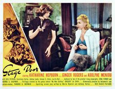 Stage Door (Lobby card; Turner Classic Movies) ...one of Lucille Balls first movies