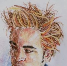 drawing hair with colored pencils