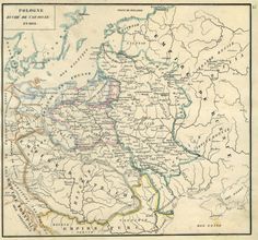 Poland in 1810. From Historie de Pologne, by Joachim Lelevel, 1844.Full album >>