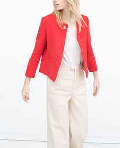 ZARA - WOMAN - SHORT CREPE JACKET, $80