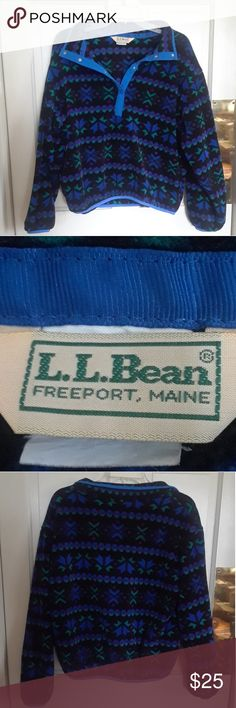 Vintage L. L. Bean Tribal Snap Sweater 🌀 The size has rubbed off from the tag but this would fit a women's XS or S perfect. I'm a size M and it's a bit too small for my liking. In great condition, it's a vintage item but I've taken good care of it while washing/drying etc. Super soft and cozy! Listed under UO for better exposure. Urban Outfitters Tops Sweatshirts & Hoodies