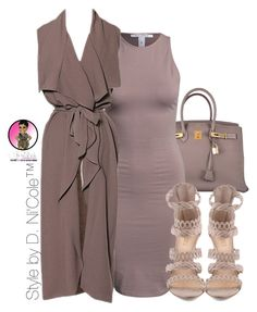 """""""Untitled #2876"""" by stylebydnicole ❤ liked on Polyvore featuring Hermès and NLY Trend"""