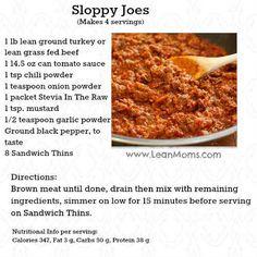 Sloppy Joes from LeanMoms.com
