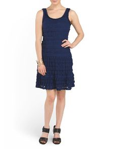 image of Lace Fit And Flare Dress