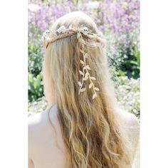 Olympic White Rose and Gold Leaf Flower Crown, Grecian Flower Crown,... ($14) ❤ liked on Polyvore featuring accessories, hair accessories, hair, penteado, gold flower crown, gold leaf garland, white flower garland, flower garland and bridal flower crown