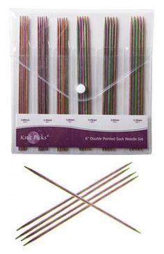 """6"""" Harmony Wood Double Pointed Knitting Needle Set - Knitting Needles and Crochet Hooks"""