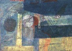 Anders Österlin - FIGURER MED TECKEN, 1956, Oil on... on MutualArt.com