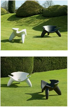 Wendell Castle, Concrete chairs. http://carpentersworkshopgallery.com