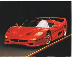 Give your home a cool contemporary touch with this F-50 red Ferrari convertible fast sports car wall picture art print poster. This wall poster offers eye-catching appeal to your décor pattern. After seeing this poster your guests will surely compliment your décor style.This poster is made up of using high quality papers which guarantees product durability and its high degree of color accuracy ensures zero percent color fading. Get up, order this wonderful product today and enjoy your…