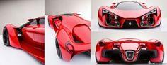 Ferrari F80 concept model by Adriano Raeli